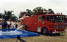 A fire engine filling our pool for one of many events held over the years