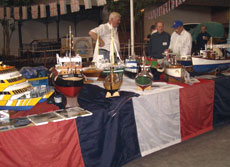 Model boats at an exhibition